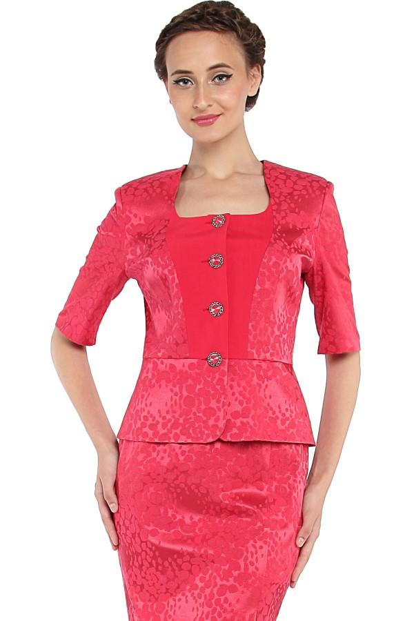 Costum cu fusta 1276 rosu1