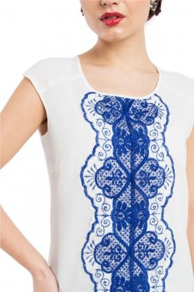 Bluza B 117 dantela albastra