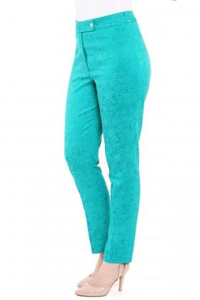 Pantalon brocard P 101 turcoaz
