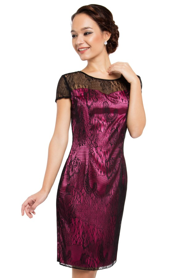 Rochie R 349 ciclam2