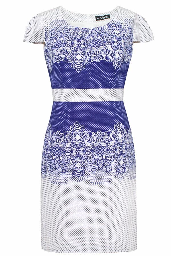 Rochie casual R 586 albastra