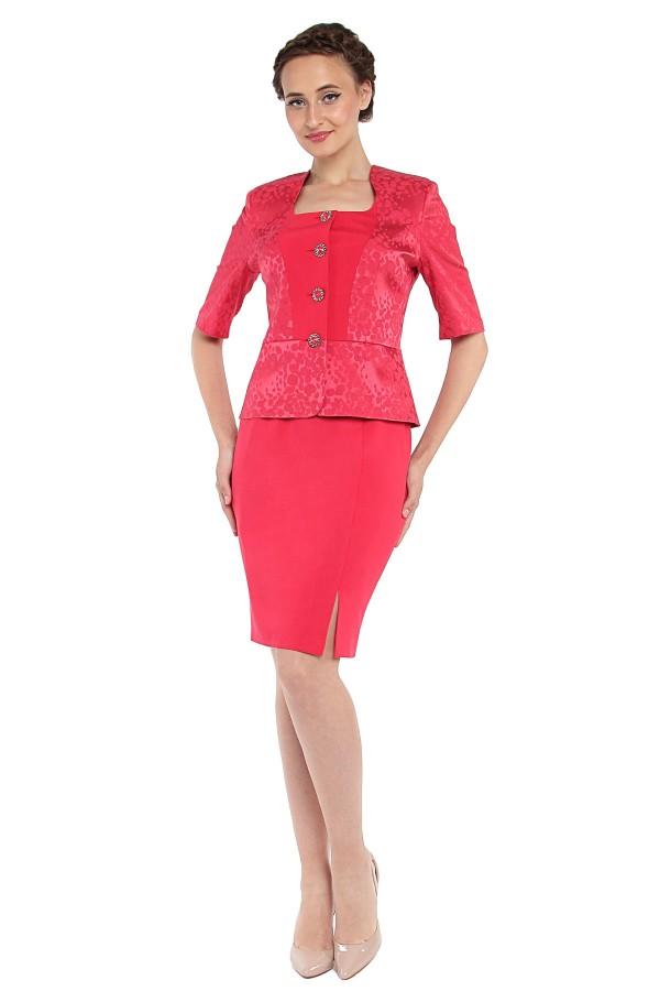 Costum cu fusta 1276 rosu