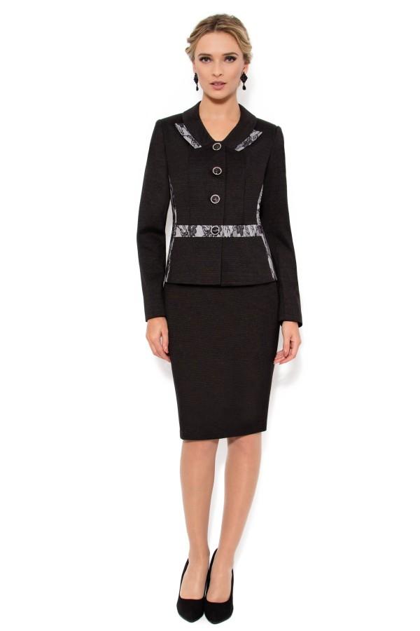 Costum cu fusta 1373 negru