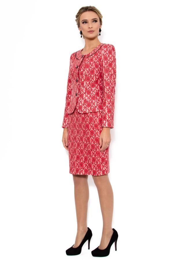 Costum cu fusta 1378 rosu