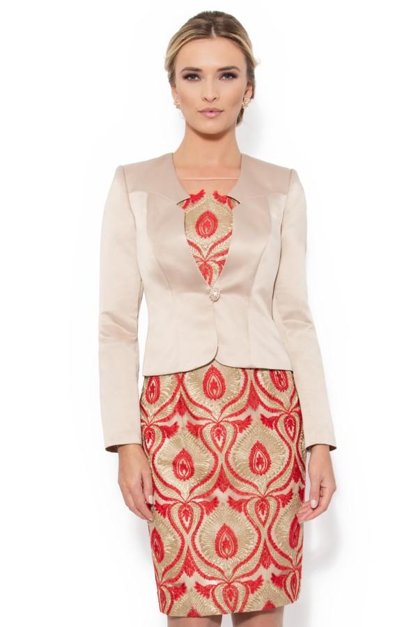 Costum cu rochie 9254 rosu