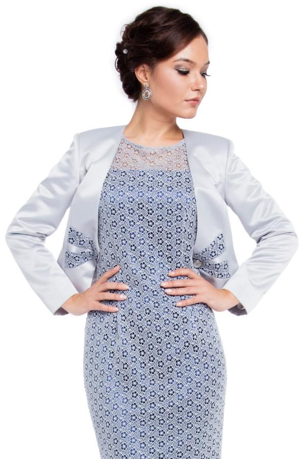 Costum cu rochie 9258 argintiu
