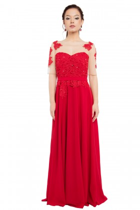 Rochie lunga R 805 rosu