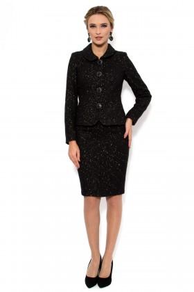 Costum cu fusta 1379 negru