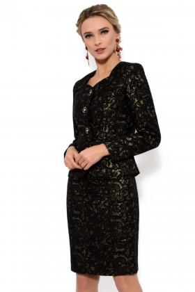 Costum cu fusta 1384 negru