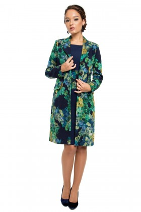 Redingota cu rochie model 7706 verde