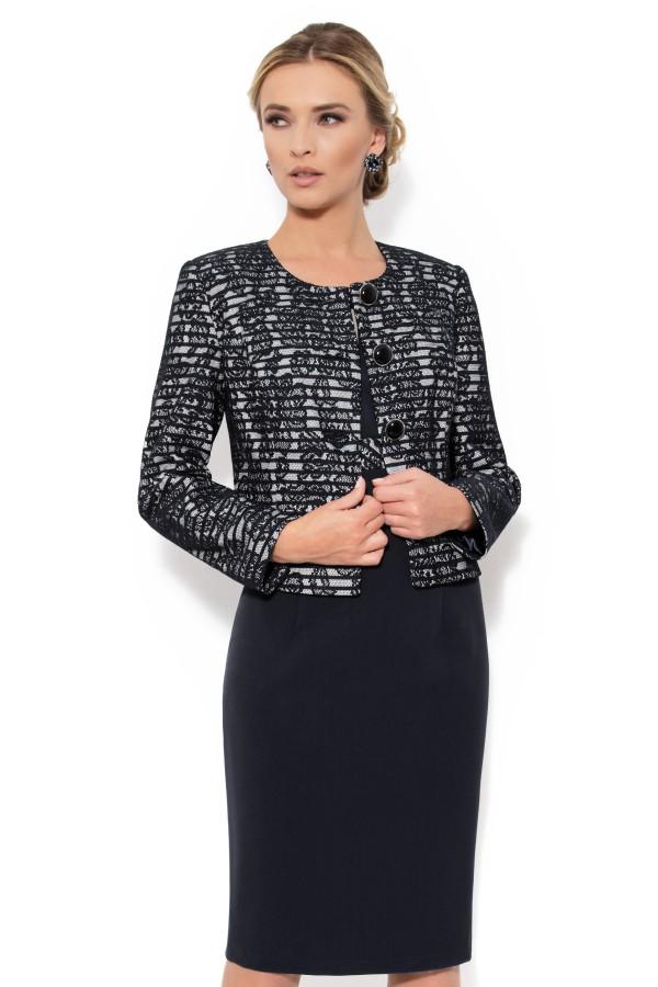 Costum cu rochie 9286 negru