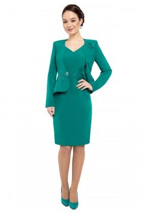 Costum cu rochie 9294 verde