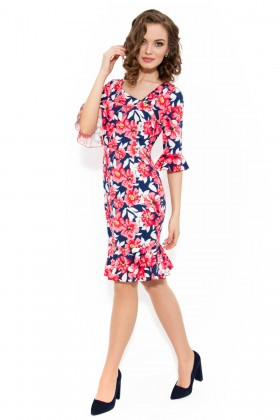 Rochie casual R 897 print floral