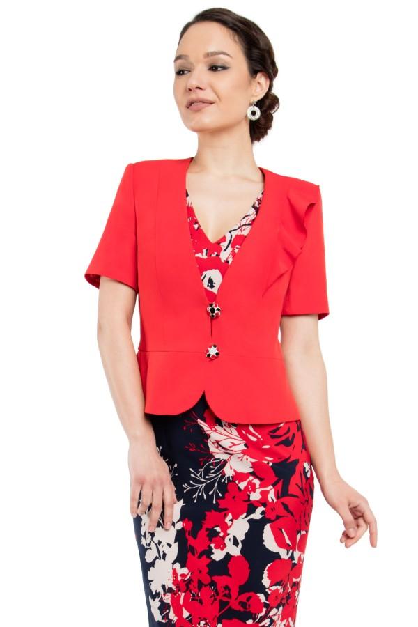 Costum cu rochie 9305 rosu