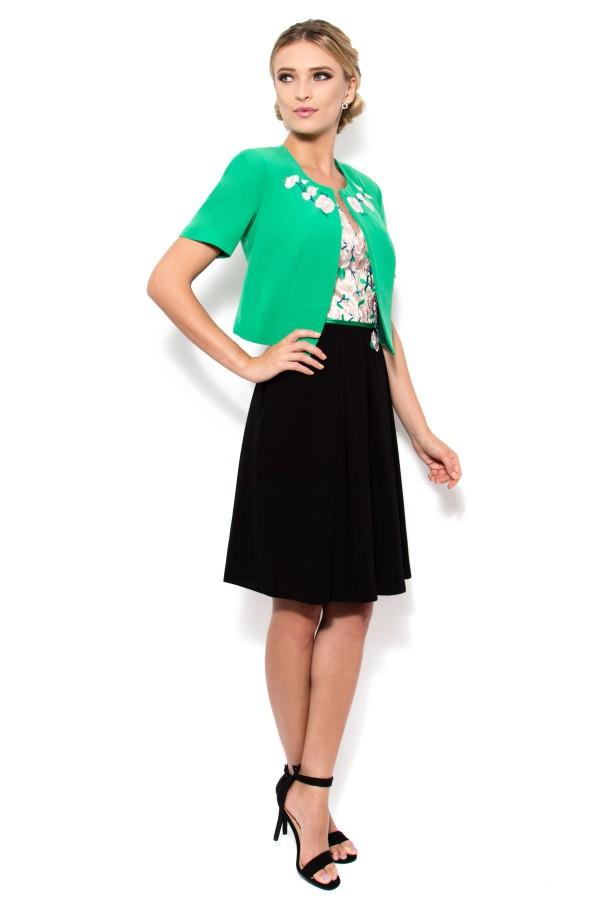Costum cu rochie 9312 verde