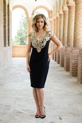 Rochie eleganta R 927 negru