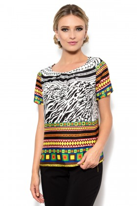 Bluza voal satinat B 127 mix