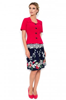 Costum cu fusta 1432 rosu