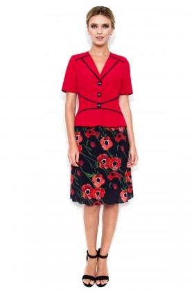 Costum cu fusta 1430 rosu