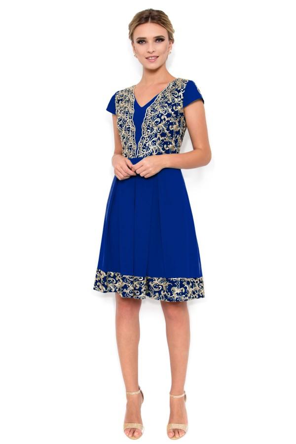 Rochie eleganta R 926 albastru