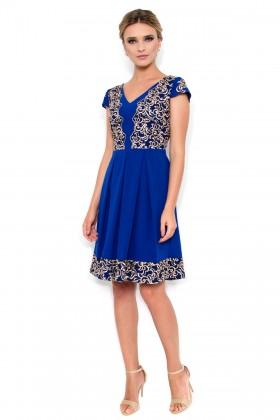 Rochie eleganta R 926 albastru 1
