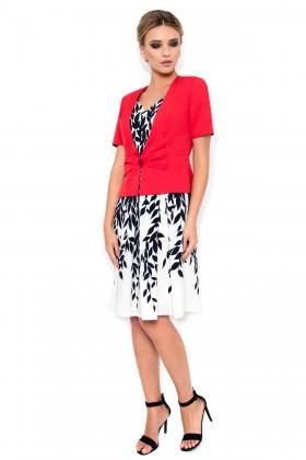 Costum cu rochie 9308 rosu