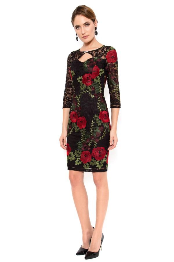 Rochie eleganta R 938 negru