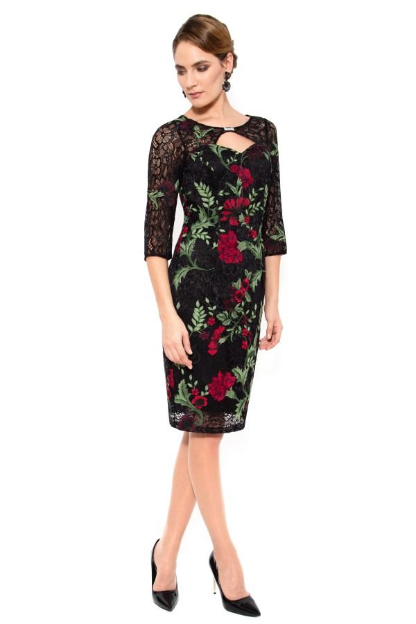 Rochie eleganta R 938 negru1