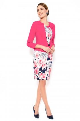 Costum cu rochie 9313 roze