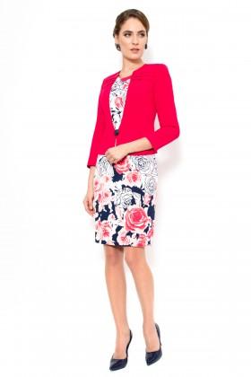 Costum cu rochie 9313 rosu