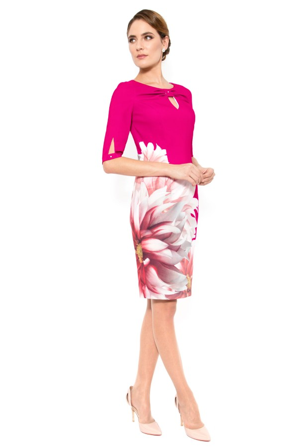 Rochie casual R 906 ciclam