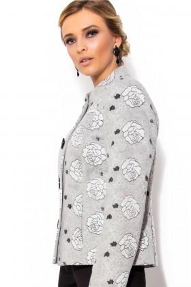 Jacheta cu flori 7204 gri
