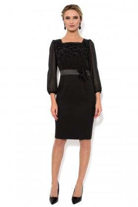 Rochie eleganta din voal R 874 negru