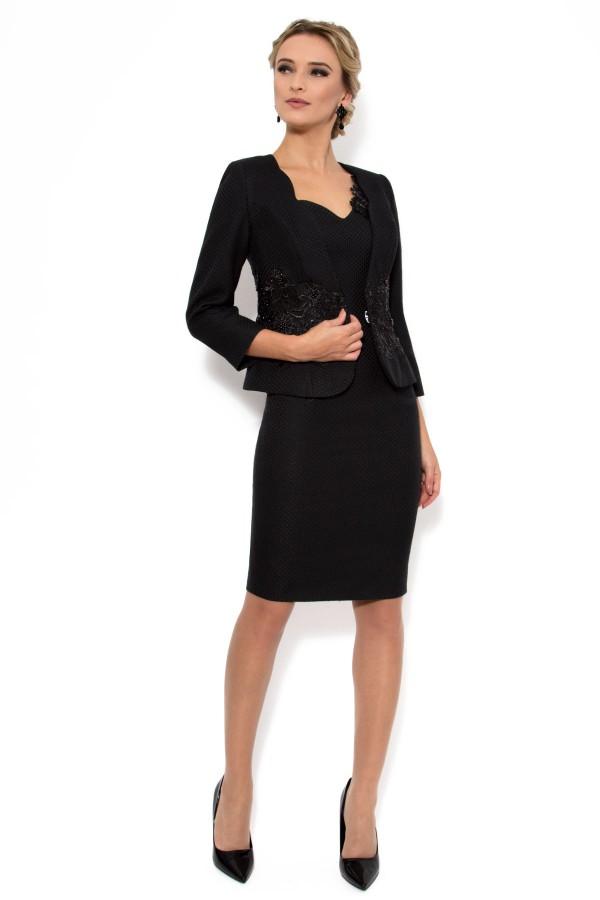 Costum cu rochie 9310 negru