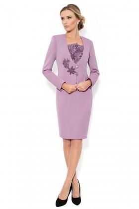 Costum cu rochie 9311 lila