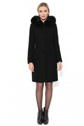Palton cu gluga 7219 negru