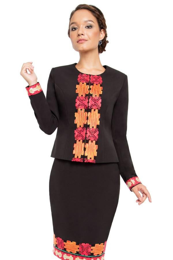 Costum cu fusta 1409 negru