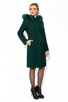 Palton cu gluga 7219 verde