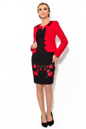 Costum cu rochie 9281 rosu