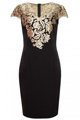 Rochie eleganta cu dantela R 927 negru