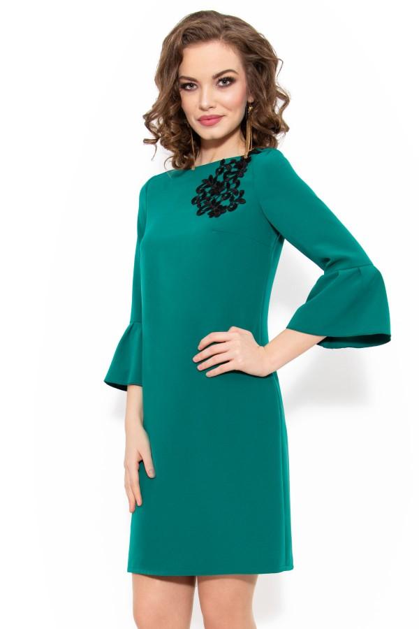 Rochie casual R 952 verde