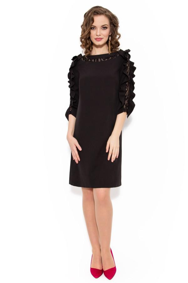 Rochie eleganta R 980 negru