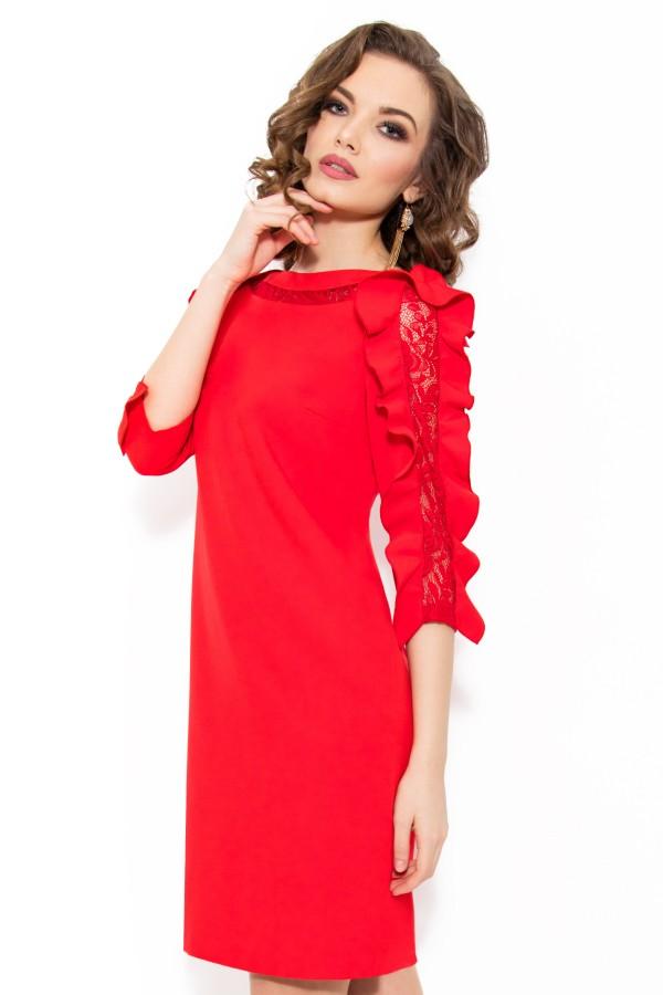 Rochie eleganta R 980 rosu
