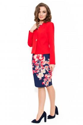 Costum cu rochie 9333 rosu