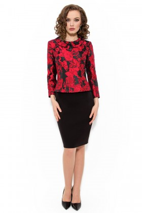 Costum cu rochie 9341 rosu