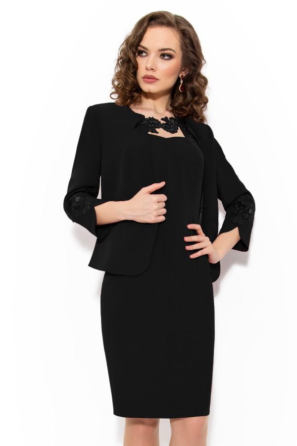 Costum cu rochie 9339 negru