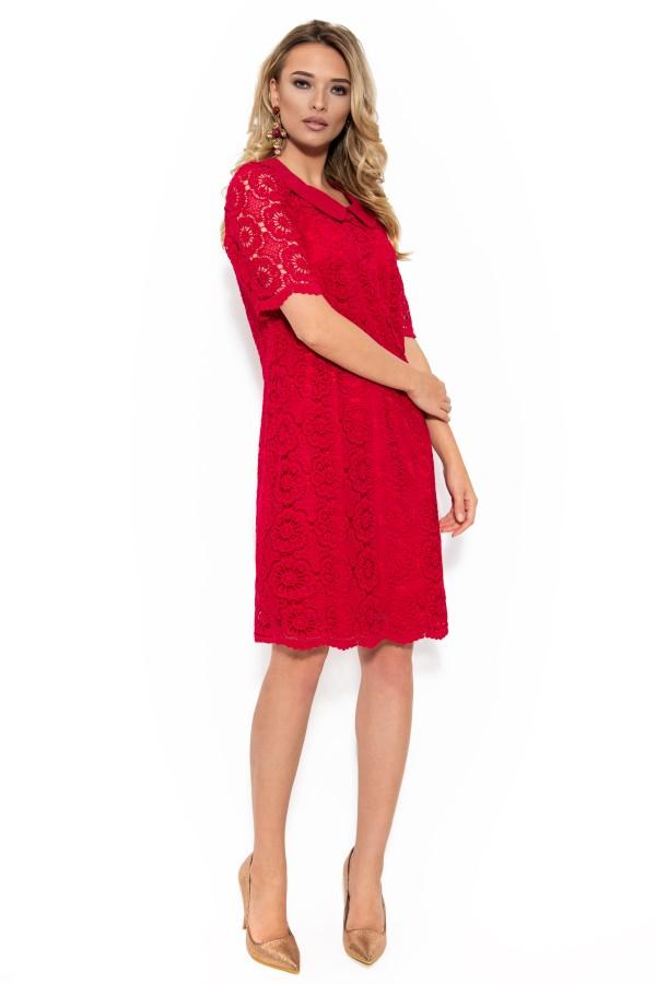 Rochie eleganta din dantela R 001 rosu