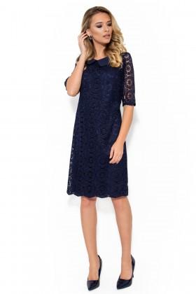 Rochie eleganta din dantela R 001 bleumarin