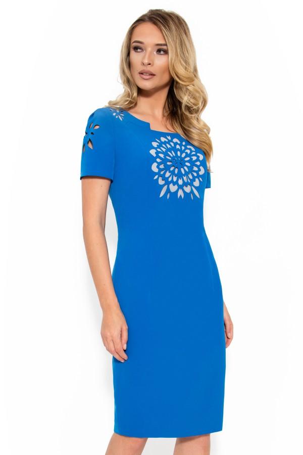 Rochie casual R 994 albastru