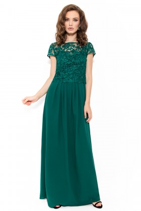 Rochie lunga R 015 verde